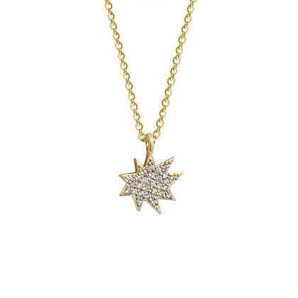 Mini Stella Necklace with Pavé Diamonds
