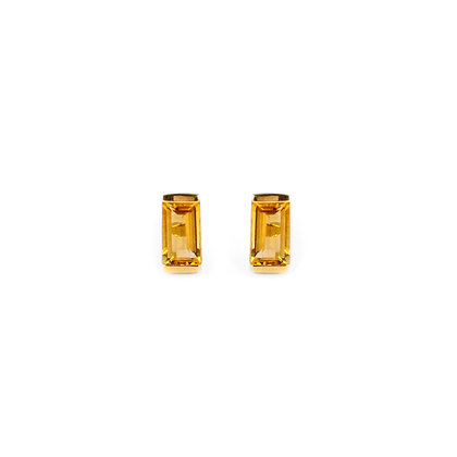 Citrine Bonbon Stud Earrings