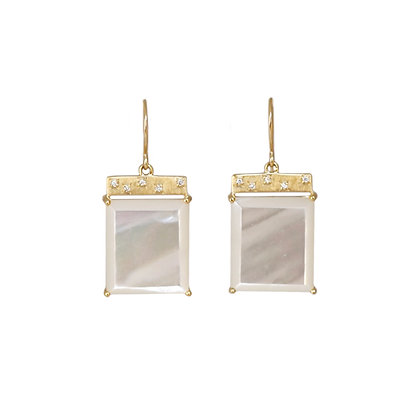 Mother of Pearl Tile Earrings