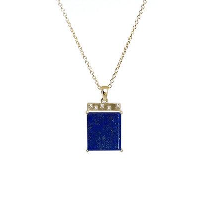 Lapis Tile Necklace