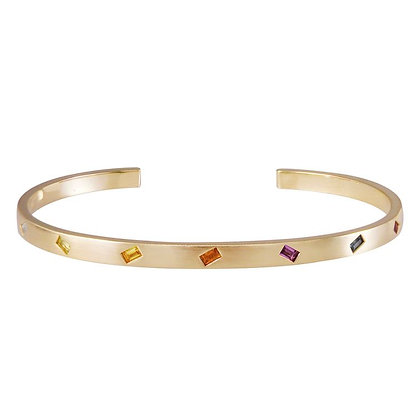 Multicolor Sapphire Jubilation Cuff Bracelet