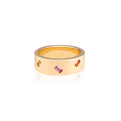 Small Jubilation Cigar Band Ring