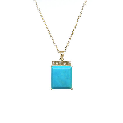 Turquoise Tile Necklace