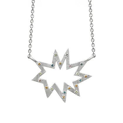 Silver Stella Nova with Colored Gemstones