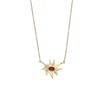 Stellina Necklace with Ruby