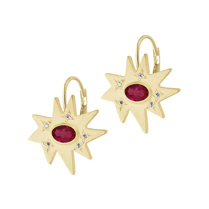 Stellina Earrings with Ruby