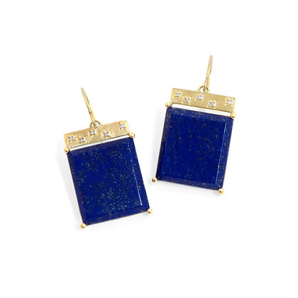 Lapis Tile Earrings