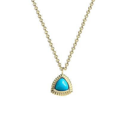 Trillion Necklace with Turquoise