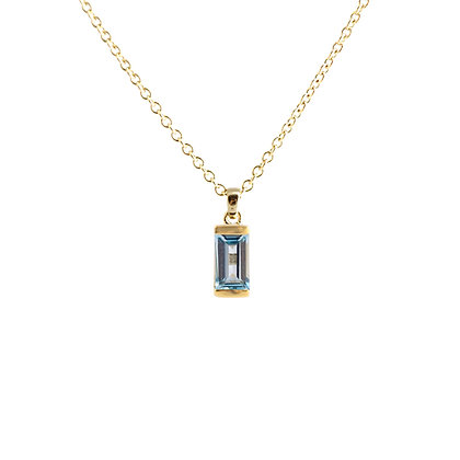 Blue Topaz Bonbon Necklace