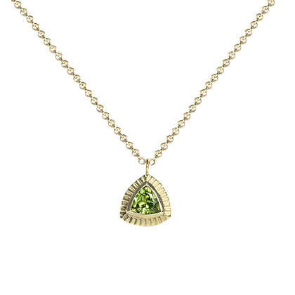 Trillion Necklace with Peridot