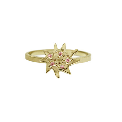 Mini Stella Ring with Pink Sapphire