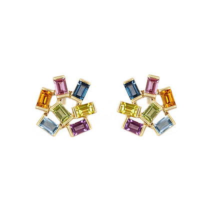 Large Jubilation Studs - Semi Precious Gemstones