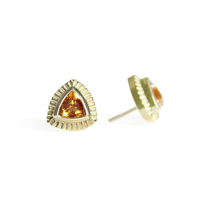 Trillion Earrings with Citrine