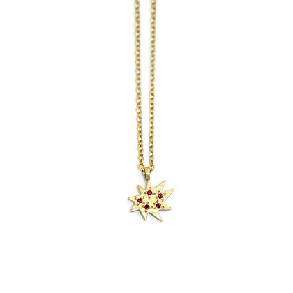 Mini Stella Necklace with Rubies