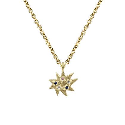 Mini Stella Single Necklace with Multi-Stones