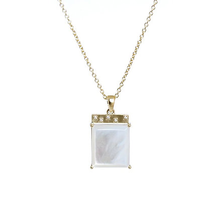 Mother of Pearl Tile Necklace