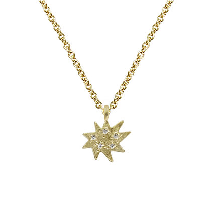 Mini Stella Single Necklace with Diamonds