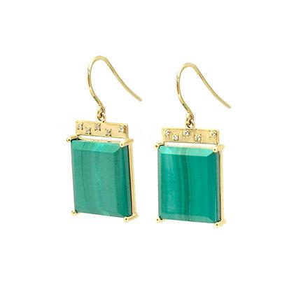 Malachite Tile Earrings