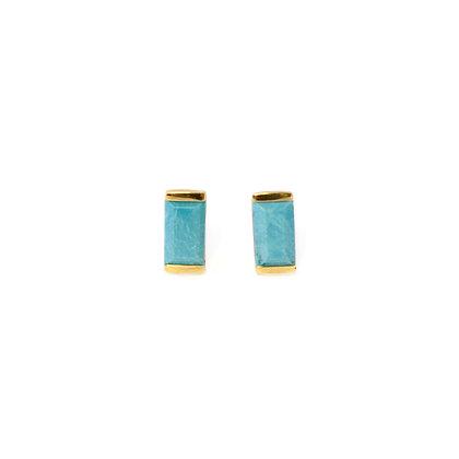 Turquoise Bonbon Stud Earrings