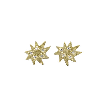 Mini Stella Stud Earrings with Diamonds