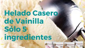 Helado de Vainilla Casero con Amarantole