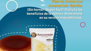 Flan de Avena con Amarantole Vainilla. ¡Sin horno! ¡Súper fácil!