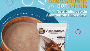Champurrado con Pinole Nutridelicioso de Amarantole Chocolate.