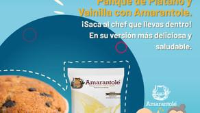 Panqué de Plátano y Vainilla con Amarantole
