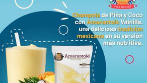 Champola de Coco y Piña con Amarantole Vainilla