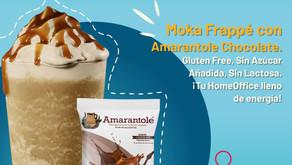Frappe Moka con Amarantole Chocolate y un toque de delicioso Café.