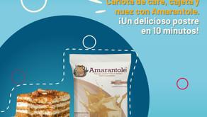 Carlota de café, cajeta y nuez con Amarantole.