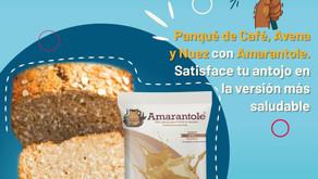Panqué de Café, Avena y Nuez con Amarantole