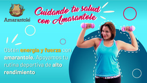 ¿Realizas algún deporte de alto rendimiento?, obtén energía y fuerza con amarantole.