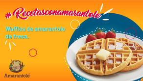 Waffles de amarantole de fresa