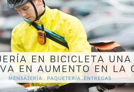Mensajería en bicicleta una opción que va en aumento en la CDMX
