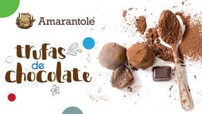 Exquisitas trufas de Amarantole de chocolate.