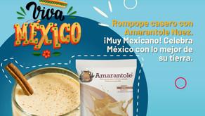 Rompope casero con Amarantole Nuez. ¡Muy Mexicano!