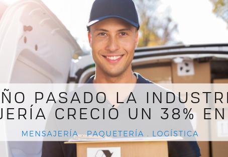 El año pasado, la industria de la Mensajería creció un 38% en México