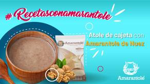 Delicioso Atole de cajeta con Amarantole de nuez