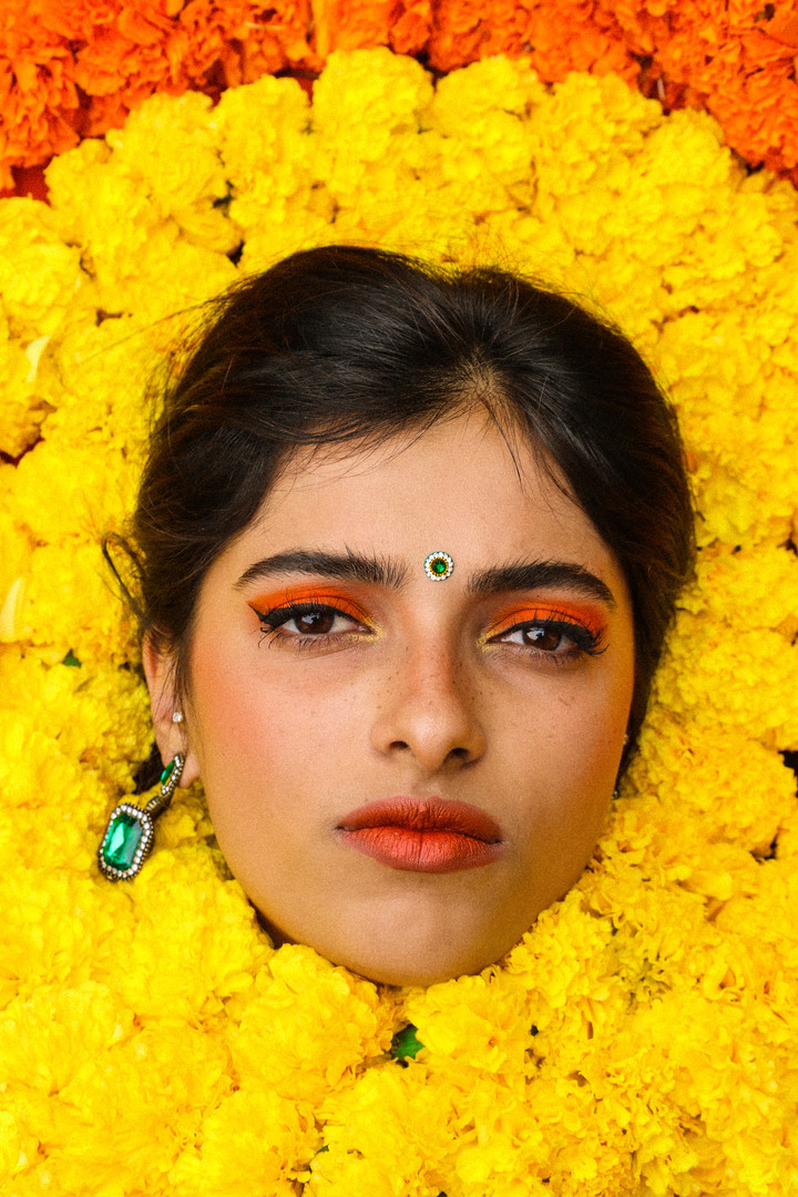Marigold Moment for Kajal Magazine