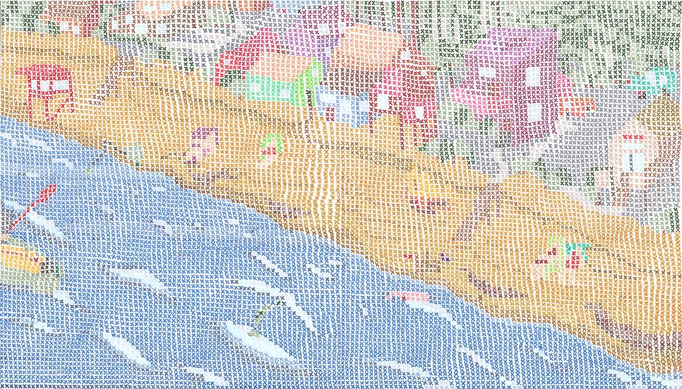 Cross-stitch seaside