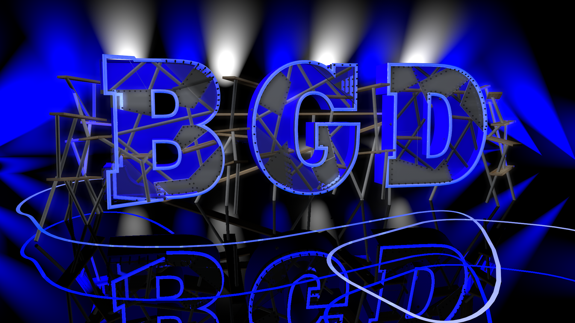 Blue Glow Design Logo