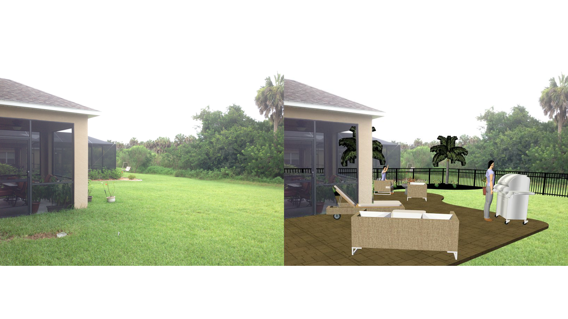 Back Yard Rendering