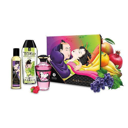 Coffret huiles de massage et lubrifiant Baisers fruités