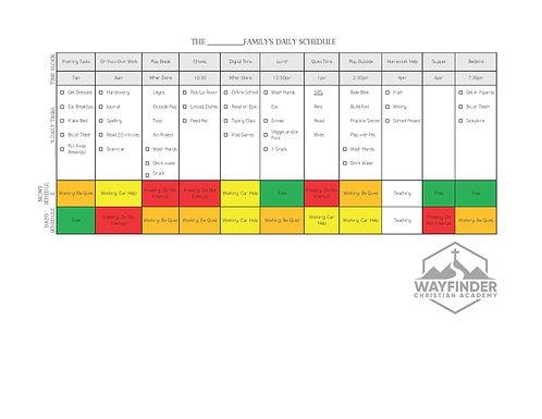 Working Parents - Evening Schedule Grades 3+