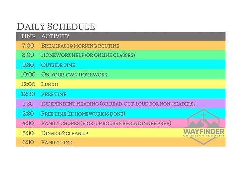 Daily Block Schedule