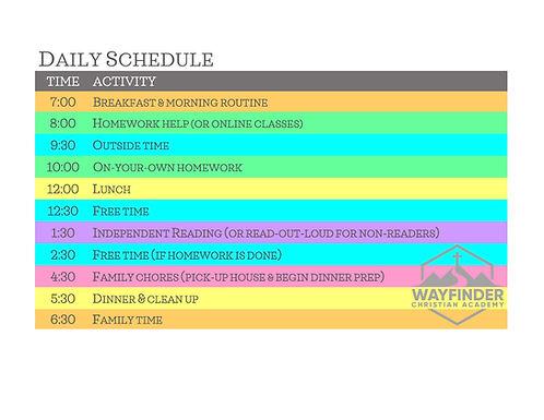 Daily Block Schedule