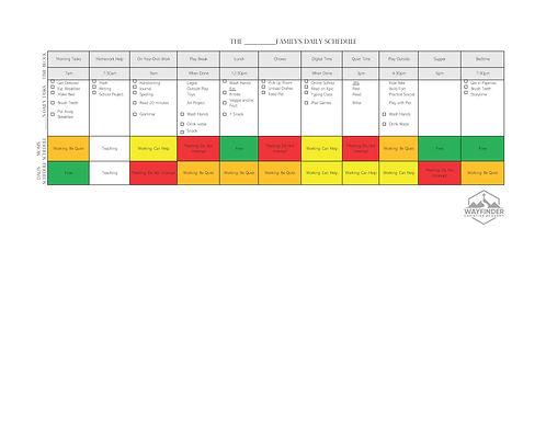 Working Parents - Morning Schedule Grades 3+