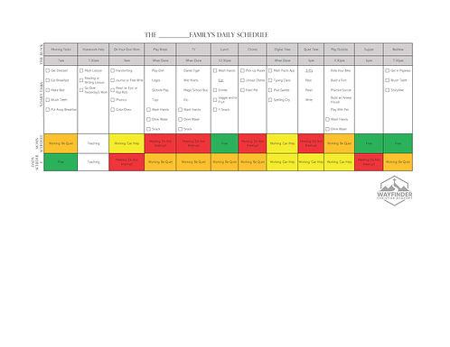 Working Parents - Morning Schedule Grades K-2