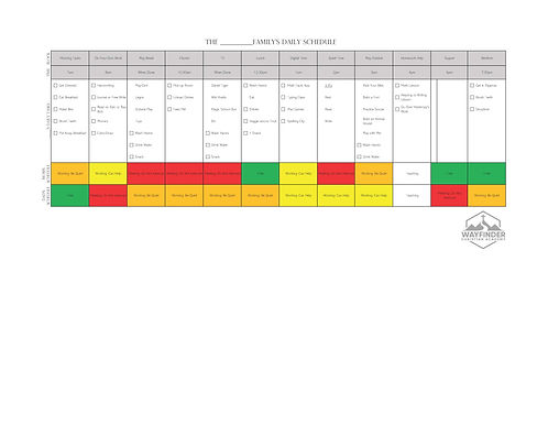Working Parents - Evening Schedule Grades K-2